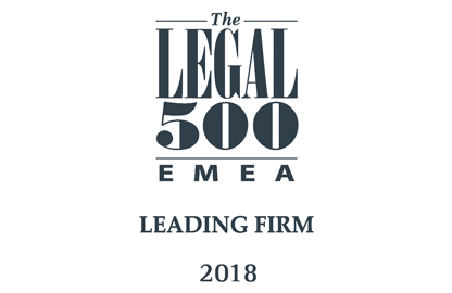 Featured in Legal 500